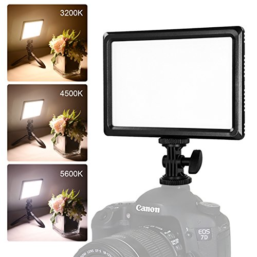NanGuang Camera Light Super Slim Dimmable 3200K-5600K LED Video Light with Hot Shoe Mount for Close-up,Portrait,Children,Wedding Photography and Video Shooting without Battery or Power Adapter by NanGuang