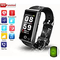 Fitness Tracker, 2018 New Design Colorful Display...