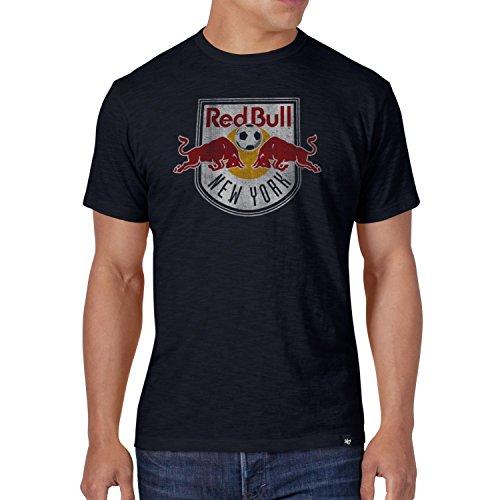 MLS New York Red Bulls Mens '47 Scrum Tee Slim, Large New York Red Bulls Men's Scrum Tee Slim, Fall Navy, Large