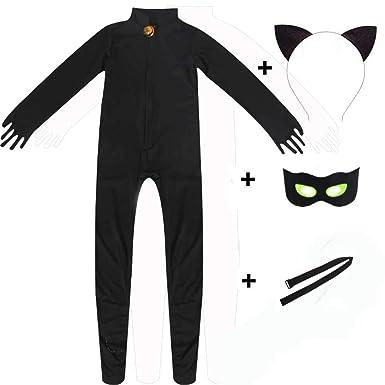 cf496a3641 Osmanluer Kid s Ladybug Blackcat Noir Cosplay Jumpsuit Boy s Marinette  Costume (Style 1 ...