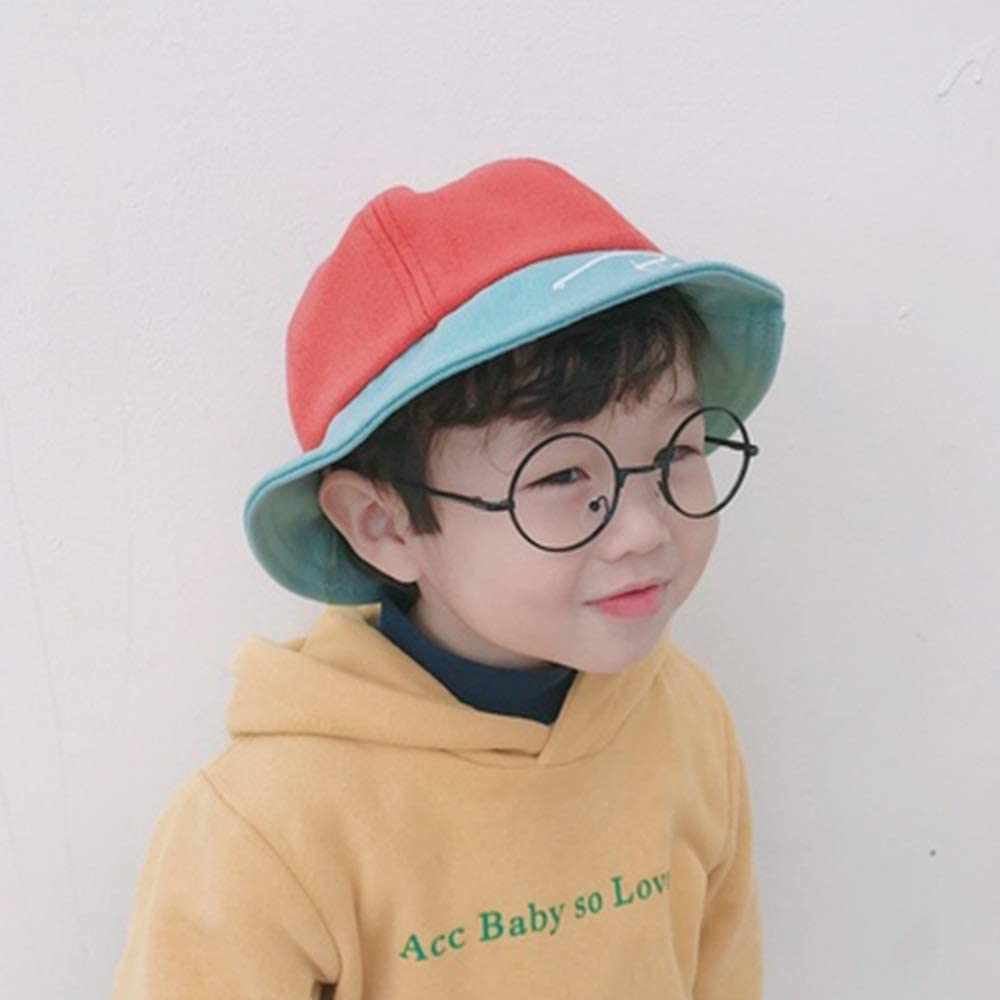 a Variety of Colors to Choose from Child hat XINGZHE09 Childrens Sun Hat boy and Girl Sunhat Child Fisherman hat 2-4 Years Old Color : Pink Color Matching Spring and Summer Trend Outing Cap