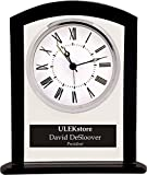 Personalized 6 1/4'' Glass Square Clock - BRAND NEW