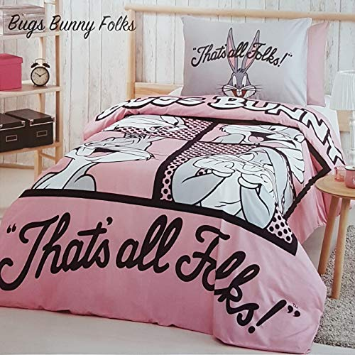 ALWAYS_CHEAPEST Bugs Bunny Folks Children's Duvet Cover Quilt Cover Bedding Set Single/Twin Bedding 100% Cotton (3 PCS)