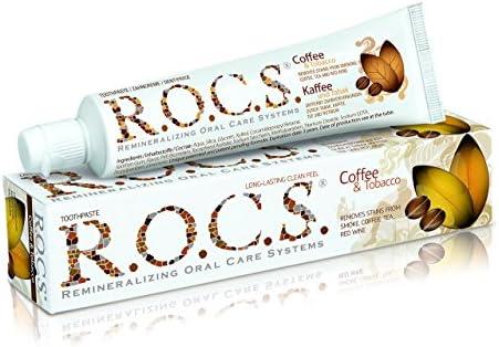 ROCS Erwachsene Kaffee + Tabak Zahnpasta 60 ml