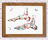 Ankle Bones Watercolor Poster Art Print Ankle Ligaments And Tendons Office Decor Medical Decor Orthopedic Surgery Skeletal System Human Ankle Art