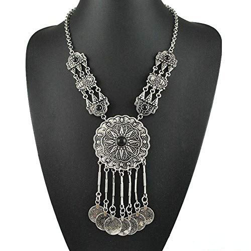 - Coin Long Pendant Necklace Link Chain Choker Jewelry Accessories For Women