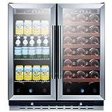Summit SWBV3067 Under Counter Beverage Refrigerator, Glass/Black