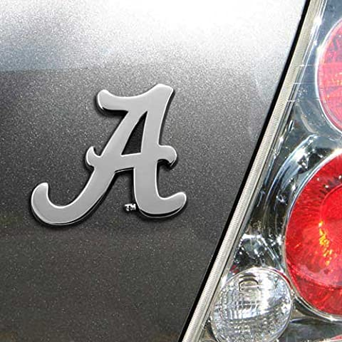 University of Alabama Chrome Metal Car Emblem - University Chrome Car Emblem