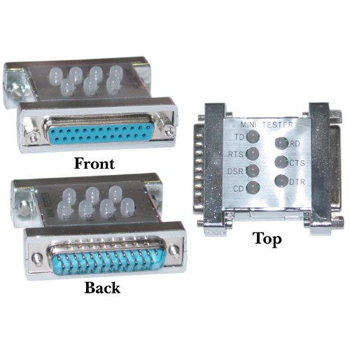 Cable Wholesale - Serial Mini Tester, DB25 Male to DB25 Female (Rs Tester 232)