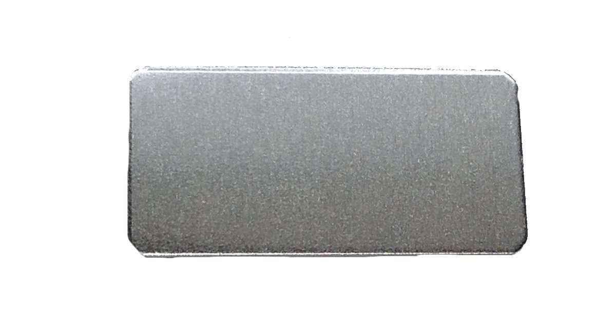 14 Ga. Aluminum 0.063 Inch RMP Stamping Blanks - 50 Pack 1 Inch x 2 Inch Rectangle with Rounded Corners