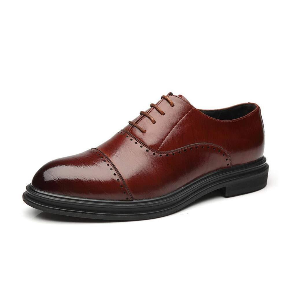 FuweiEncore Herren Business-Schuhe, Frühling Herbst Schnür-Kleid Lederschuhe, Modische Casual Hochzeit Spitzschuh Schuhe, Eine Nacht auf der Party (Farbe   B, Größe   40) (Farbe   B, Größe   44)