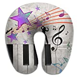 Neck Pillow With Resilient Material Piano Dance U Type Travel Pillow Super Soft Cervical Pillow