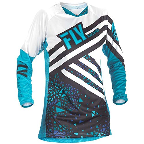 (Fly Racing Men's Kinetic Jersey (Blue/Black, Youth Small))