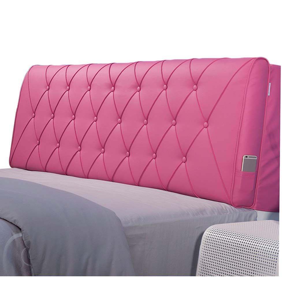 Pink : さいず (色 ヘッドボードクッション立体的なソフトケースサポート簡単に清掃する耐久性のあるホームPU Length 、8サイズ 180cm Pink, B07LG85MFV Length 180cm) サイズ 、5色 : KKCF