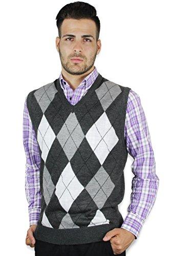 White Argyle Sweater Vest - 5