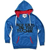 Ladies New Kids On The Block Thumbhole Blue Pullover Sweatshirt (Small)