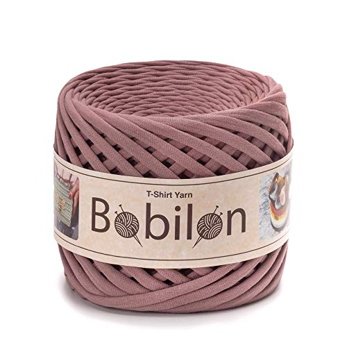 T-Shirt Yarn Fettuccini Zpagetti Style - Tshirt Yarn for Crocheting - Ribbon Yarn 100% Cotton - Knitting Yarn Ball - T Yarn Organic - Macrame T-Yarn - Thick Fabric Yarn - Jersey Yarn Lilac