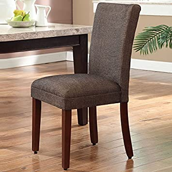 HomePop K1136-F772 Parsons Classic Dining Chair Single Pack Textured Brown