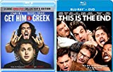This is the End + Get Him to the Greek 2 Disc Unrated Collector's Edition Comedy Feature Blu Ray Fun Double Feature movie Set Combo Edition
