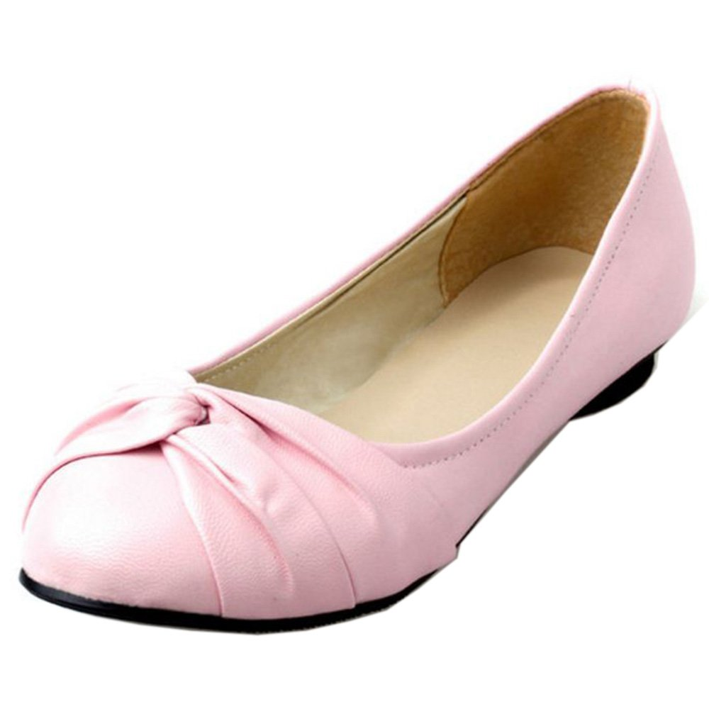 KemeKiss Women Simply Comfortable Slip On Ballet Shoes Casual Knotted Cute Flats B01MU9A36Z 7 B(M)US = 24 CM|Pink