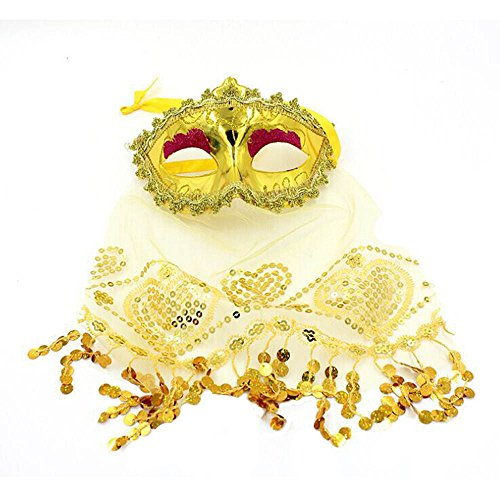 UOKNICE Halloween Masquerade Mask Prom Party Mask Accessories ()