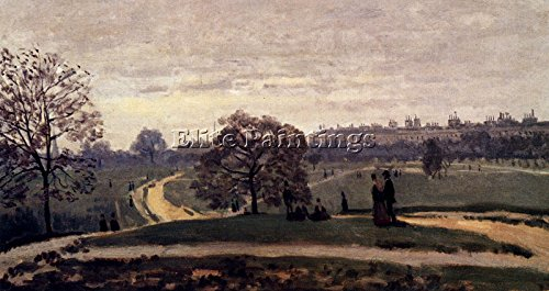 MONET HYDE PARK LONDON 1871 ARTIST PAINTING REPRODUCTION HANDMADE OIL CANVAS 24x48inch