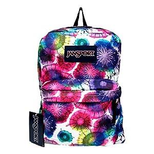 Jansport Superbreak Backpack! (Multi Tie Dye Swirls)