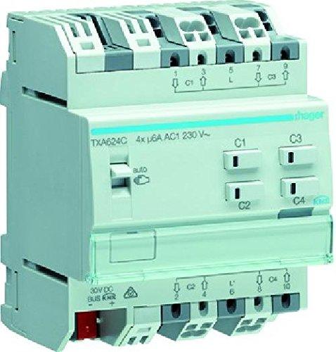 Hager TXA624C - Módulo 4 est./pers. 230v, easy: Amazon.es ...