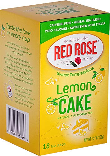 Red Rose Sweet Temptations Lemon Cake Tea, 18 Tea Bags (Pack of 6)