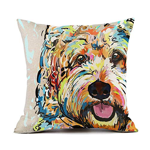 - Redland Art Cute Pet Bichon Frise Dog Pattern Throw Pillow Covers Cotton Linen Cushion Cover Cases Pillowcases Sofa Home Decor 18