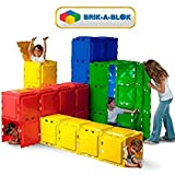 Brik-A-Blok 60 Panel Set Toy System (5-14 Years Old) Build A PlayHouse, Tunnel or Den. Children Kids Fun Play Easy to Assemble and Store. Compact Storage Boxes Provided. Ideal Gift! by Brik-A-Blok