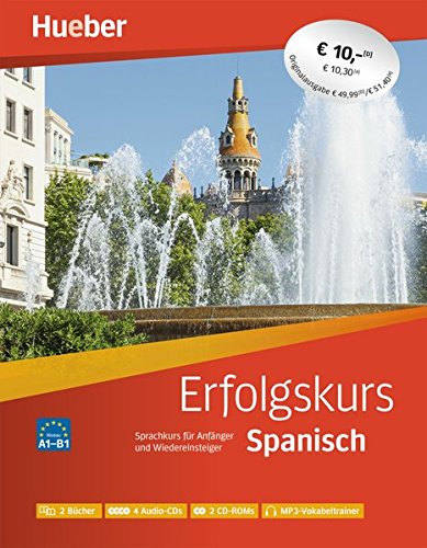 Erfolgskurs Spanisch  Paket  2 Übungsbücher + 4 Audio CDs + 2 CD ROMs