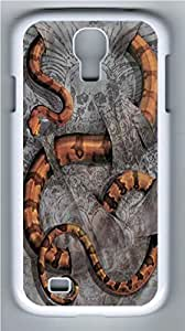 Boa Constrictor PC Case Cover for Samsung Galaxy S4 I9500 White
