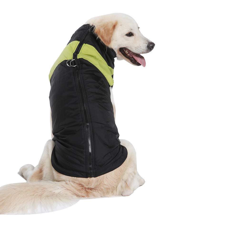 Abbigliamento per Animali Domestici Vestiti per Cani Gilet per Uccelli Invernali Gilet per Cani di Taglia Grande Gilet Gilet per Animali Domestici Giacca per Cani Outwear, Green-L-XL GXLO