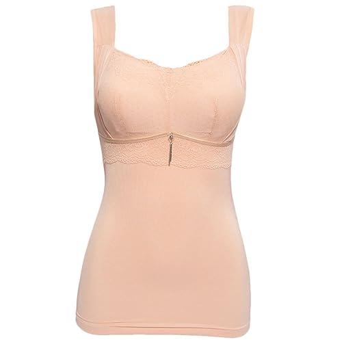 Zhhlaixing alta calidad Fashion Ladies Solid Color Double Bra Lace Underwear Warm Underwear Vest Bra