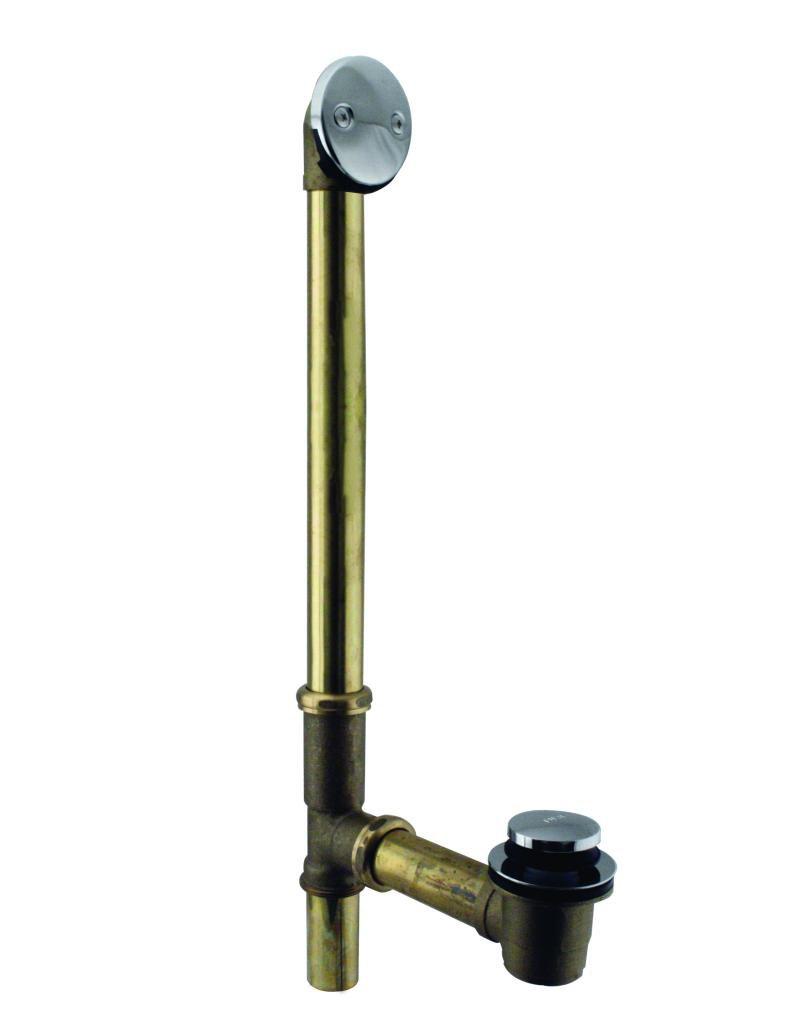 Westbrass D326-20G-26 Tip Toe Bath Drain Plug, Polished Chrome