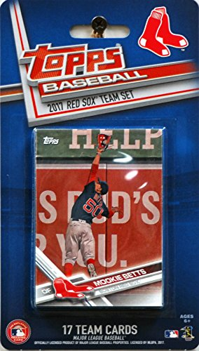 Sox Baseball Red Boston Topps Cards - Boston Red Sox 2017 Topps Factory Sealed Limited Edition 17 Card Team Set with Dustin Pedroia Andrew Benintendi Mookie Betts Plus