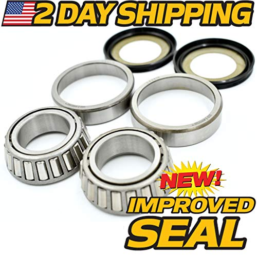 - 2 Day Ship - Drag Neck Stem Post Bearing & Seal Kit Fits Harley OEM 48300-60 48315-60, HD Switch