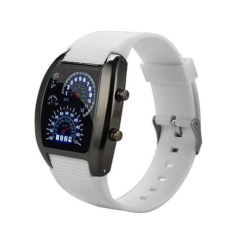 Fcostume – Reloj LED para Hombre, tacómetro Turbo, Reloj Deportivo, dial, Metro
