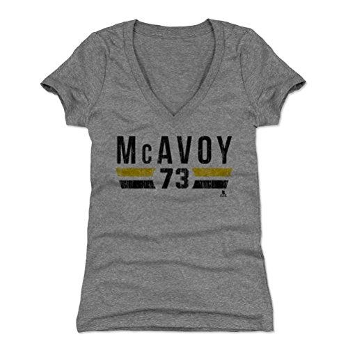- Charlie McAvoy Women's V-Neck Shirt XX-Large Tri Gray - Boston Hockey Fan Apparel - Charlie McAvoy Boston Font K