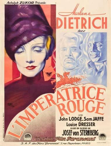 The scarlet empress Marlen Dietrich movie poster print