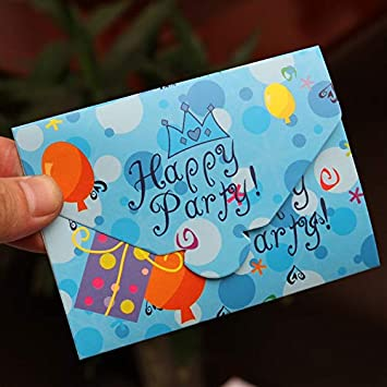 Amazon Com 12pcs Paper Birthday Invitation Card Children