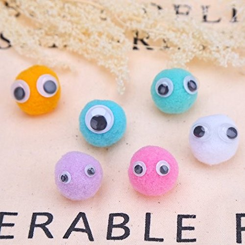 700 Pieces Black Mixed Wiggle Googly Eyes with Self-adhesive DIY Scrapbooking Crafts Toy Accessories