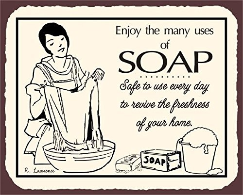 (NGFD Soap Vintage Metal Art Laundry Cleaning Retro Metal Tin Sign 8x12 inch Metal Signs)
