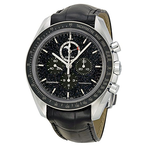 Omega-Speedmaster-Chronograph-Black-Dial-Black-Leather-Mens-Watch-31133443201001