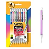 BIC Xtra Sparkle Mechanical Pencil, Colorful Barrel, Medium Point (0.7mm), 15-Count