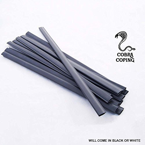 Coping Strips for Above Ground Pool Liners, Plastic clips for Overlap Pool Liner Replacement (24' Round - Qty 38)
