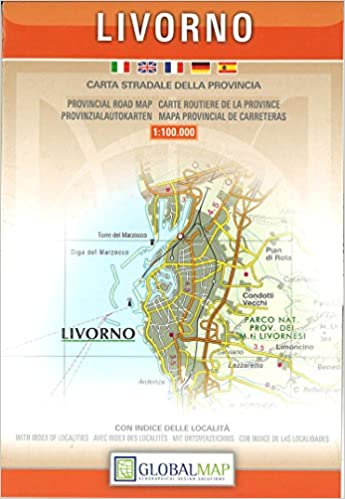Provincial Map Of Italy.Buy Livorno Italy Provincial Road Map Book Online At Low