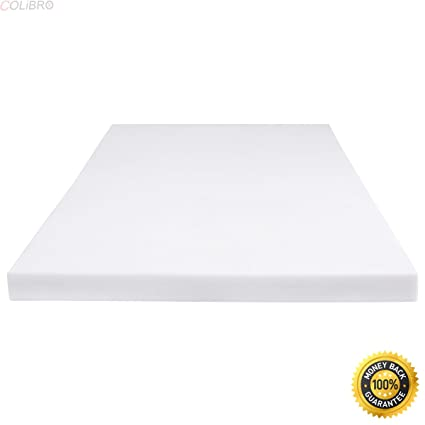 colibrox 4 full size memory foam mattress pad bed topper 54x75x4quot - Tempurpedic Memory Foam Mattress