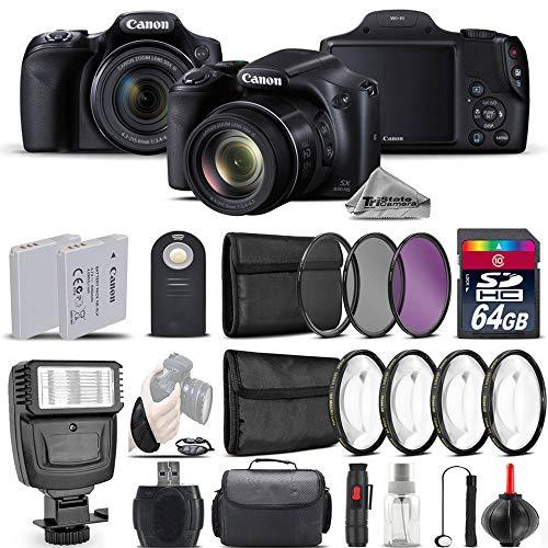 Canon PowerShot sx530 HSデジタルカメラ9779b001 +フラッシュ+バックアップバッテリ+マクロフィルタキット+ - CPL - FLDフィルタ+ワイヤレスリモートコントロール+ 64 GBクラス10メモリカード – インターナショナルバージョン   B076PQKLWP